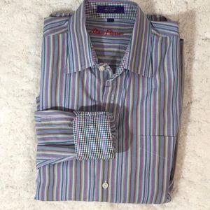 Alan Flusser contrasting cuff shirt